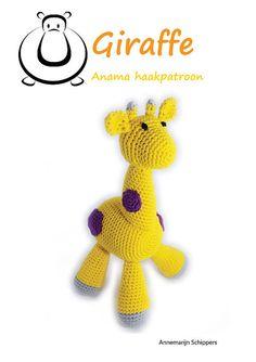 Haakpatroon knuffel giraffe