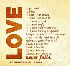 Love Never Fails (1st Corinthians 13-4-8)
