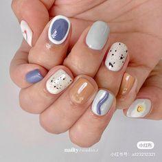 Korean Nail Art, Korean Nails, Nail Atelier, Pretty Nail Art, Nail Arts, Cute Nails, Manicure, Nail Designs, Cat