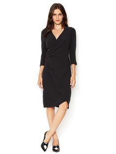 Silk Crepe Wrap Dress  Dress #Gowns #Jacket #TuxedoWomen #Men #Shirts
