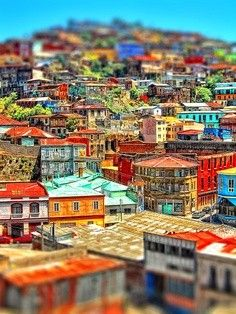 Valparaiso, City in Chile. One of the most colorful and Vibrant place in the world. Places Around The World, Oh The Places You'll Go, Travel Around The World, Places To Travel, Places To Visit, Around The Worlds, Photos Voyages, Quito, Wonders Of The World