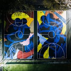 Stanton Street basketball courts by Kaws and Nike