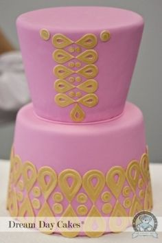 Bridal Shower Cake: Lilly Shift Cake #LillyPulitzer #SouthernWeddings