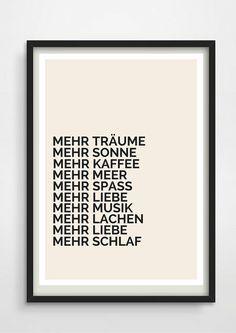 Druck+*Mehr*+LEBEN+LIEBE+MEER+von+PAP-SELIGKEITEN+–+Poster,+Drucke,+Postkarten+auf+DaWanda.com