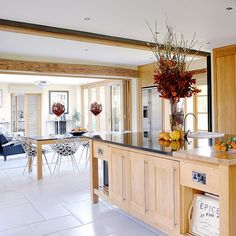 Large kitchen island   Open-plan kitchen design ideas   Kitchen   PHOTO GALLERY   Country Homes and Interiors   Housetohome.co.uk