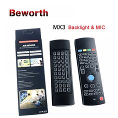 Backlight PRO Air Mouse With Mic Voice Backlit Wireless Keyboard IR Learning Remote Control For Plus Mini Radio Frequency, Good Communication, Electronic Cigarette, Smart Tv, Mini Price, Keyboard, The Voice, Remote, Learning