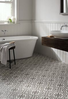 Bathroom Floor Tiles at Topps Tiles. Loft Bathroom, Bathroom Floor Tiles, Bathroom Renos, Budget Bathroom, Modern Bathroom, Tile Floor, Room Tiles, Bathroom Ideas, Bathroom Mirrors
