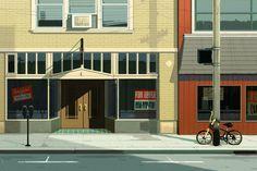 Main Street Blues.  #art #illustration #animation #gif #RebeccaMock
