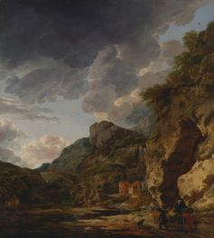 Mountain Landscape with River and Wagon; Herman Nauwincx (Dutch, about 1623 - after 1651), and Willem Schellinks (Dutch, about 1627 - 1678); third quarter of 17th century; Oil on panel; 69.9 × 60.3 cm (27 1/2 × 23 3/4 in.); 69.PB.6; J. Paul Getty Museum, Los Angeles, California