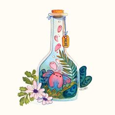 Discovered by DD. Find images and videos about cute, illustration and hope on We Heart It - the app to get lost in what you love. Cute Kawaii Drawings, Kawaii Art, Art Drawings Sketches, Animal Drawings, Poses References, Cute Art Styles, Dibujos Cute, Cute Doodles, Cute Illustration