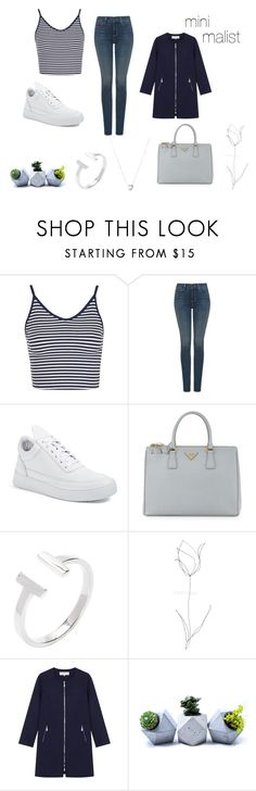 """""""minimalist"""" by marjetje ❤ liked on Polyvore featuring Topshop, NYDJ, Filling Pieces, Prada, Blume, Gérard Darel and Links of London"""