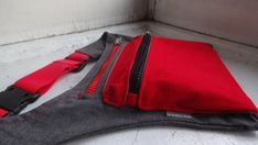 Red Grey Hip Bag Red Festival Belt Fanny Pack Travel door koatye1