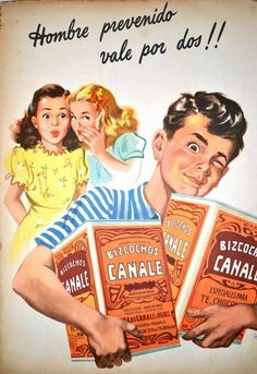 """Canals Biscuits 1950. """"Twice Prepared""""  """"When family humor ads reflected our culture's values instead of trying to lower them."""""""