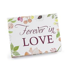 "Product Details Hortense B Hewitt Floral Forever Guest Book Full color guest book with ""Forever in Love"" floral design. White signature pages, records 600 signatures. Discount Wedding Invitations, Beautiful Wedding Invitations, Wedding Stationery, Fancy Wedding Dresses, Floral Wedding, Craft Wedding, Wedding Guest Book, Wedding Ideas, Forever Book"