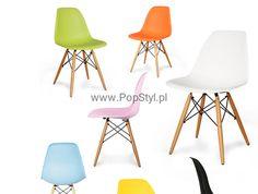 Nowoczesne krzesło DSW ENZO inspirowane Eames Eames Eiffel - kolory