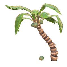 fbx modular cartoon palm leaf