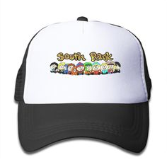 Newest South Park Kids Trucker Cap Hat Boys Girls Adjustable Unisex Black By JAC8I. South Park Mesh Cap One Size Fit All Kids Youth Boys And Girls. Eco-Friendly Ink And Material. Cap Material Are Made Of Cotton And Nylon. Back Mesh Can Be Adjustable From 18.5'' To 22.9''. It Is The Best Choice,when You Want Wear It To School,Sport,Party,Travel And Other Activities.