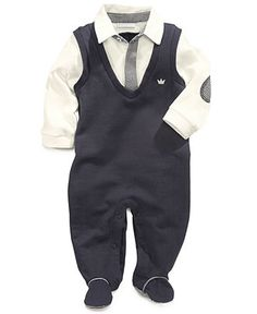First Impressions Baby Coverall, Baby Boys Footed Polo Coverall - Kids - Macy's