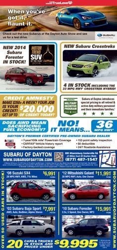 Subaru Of Dayton >> 18 Best Subaru Of Dayton Images In 2014 Subaru Cars Cars Driving