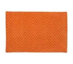 Bright orange Chevron Rug to go with our turquoise walls: Land of Nod