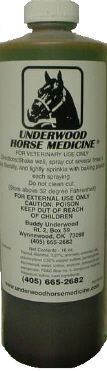 Underwoods Horse Medicine...something we'll never be without!  This stuff is miraculous!