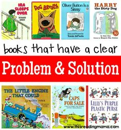 Teach Your Child to Read - Books that Have a Clear Problem and Solution Text Structure complied by This Reading Mama - Give Your Child a Head Start, and.Pave the Way for a Bright, Successful Future. Comprehension Strategies, Reading Strategies, Reading Skills, Reading Comprehension, Reading Lessons, Reading Resources, Reading Projects, Reading Logs, Library Lessons