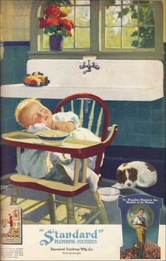 1926 Sacked Out Baby    Source: Ladies Home Journal Vintage RHS