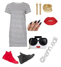 """""""❤️❤️"""" by kennedii on Polyvore featuring Converse, M.i.h Jeans, Chloé, ABS by Allen Schwartz, Smashbox and Alice + Olivia"""