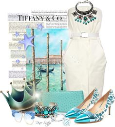 """""""Tiffany Blue in Venice"""" by renee-switzer ❤ liked on Polyvore"""