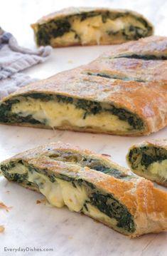 Spinach Egg Breakfast Stromboli Recipe
