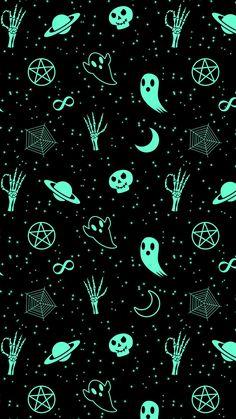 Fall Wallpaper, Halloween Wallpaper, Wallpaper Backgrounds, Iphone Backgrounds, Iphone Wallpapers, Witchcraft, Creepy, Kawaii, Lock Screens