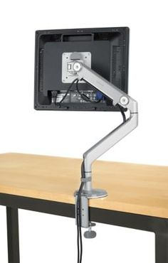 Room & Board - Monitor Arm - Modern Office Organization - Modern Home Decor Office Office, Office Ideas, Office Spaces, Small Furniture, Office Furniture, Rustic Furniture, Furniture Ideas, Furniture Websites, Furniture Removal