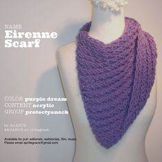Eirenne Scarf | Handmade | Available for pull: open to fashion and entertainment related projects including fine art photography, editorials, webitorials, webisodes, student film, short film, feature film, carpet events, etc. | aprillegrace@gmail.com