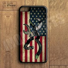 Browning Deer Camo American Flag Plastic Case iPhone 6S 6 Plus 5 5S SE 5C 4 4S Case Ipod Touch 6 5 4 Case