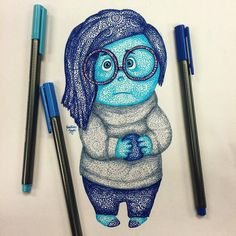 Inside out- found these drawings online Drawing Cartoon Characters, Cartoon Drawings, Cartoon Art, Cute Disney Drawings, Disney Sketches, Amazing Drawings, Cool Drawings, Pencil Drawings, Mandala Disney