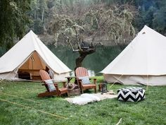 Glamping- would love to escape here for a few days or weeks. Looks so peaceful