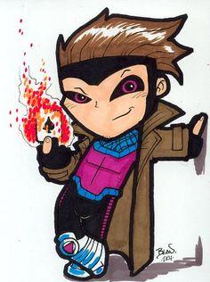 Chibi-Gambit. by hedbonstudios.deviantart.com on @deviantART