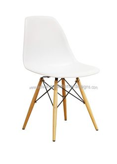 Molded Plastic Side Chair with Dowel Leg Base (many colors) $99