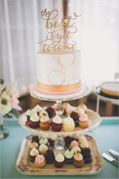 the best is yet to come cake topper @weddingchicks