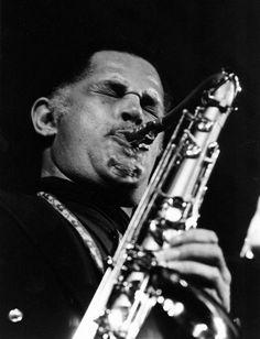 """Dexter Gordon (1923 - 1990) Jazz saxophonist, he starred in the movie """"'Round Midnight"""""""