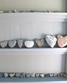 love this little collection of heart rocks...great for coastal style...amazing what comes from nature and the ocean    #coastal #style #nautical