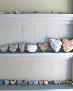heart rocks - great display