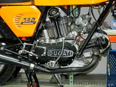 1973 round case Ducati 750 Sport, one of Bevel Heaven founder Steve Allen's bevel drives.