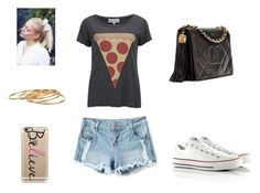 """Pizza"" by beatrizmelo-mail ❤ liked on Polyvore featuring Wildfox, Converse, Casetify and Satya"