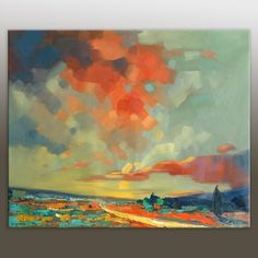 A personal favorite from my Etsy shop https://www.etsy.com/listing/219647148/large-art-landscape-painting-abstract