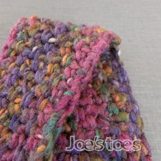 Joe's Toes - A stretchy crochet stitch for our latest Crossover Slipper Kit in U.K. and U.S. sizes.