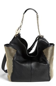 Jimmy Choo 'Anna' Studded Hobo available at Milan Fashion Weeks, New York Fashion, Runway Fashion, Fashion Models, Hobo Fashion, Fashion Outfits, Womens Fashion, Chanel Resort, Chanel Cruise