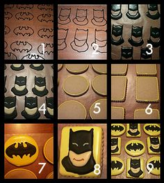 Batman Cookies (Can be use for any Super Hero)