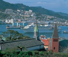 Nagasaki Port from Glover Garden, with Cruise Ship, Nagasaki City