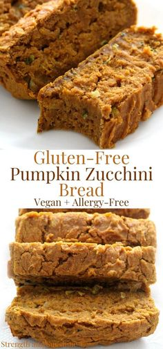 Transition from Summer to Fall with healthy delicious Gluten-Free Pumpkin Zucchini Bread! This easy quick bread recipe is vegan, allergy-free, veggiful!